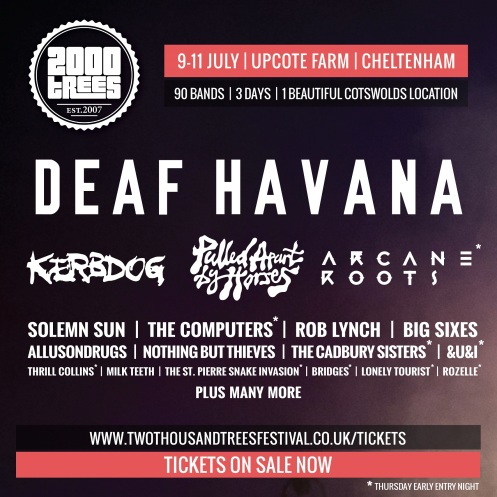 2000trees Lineup poster 310115